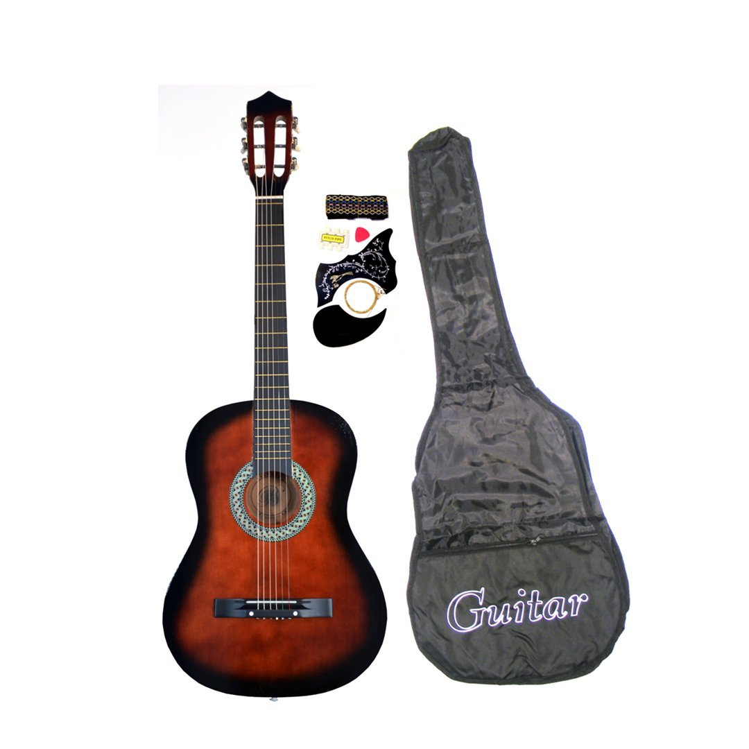 38'' Student Acoustic Guitar Starter Package, Guitar, Gig Bag, Strap, Pitch Pipe & DirectlyCheap(TM) Translucent Coffee Medium