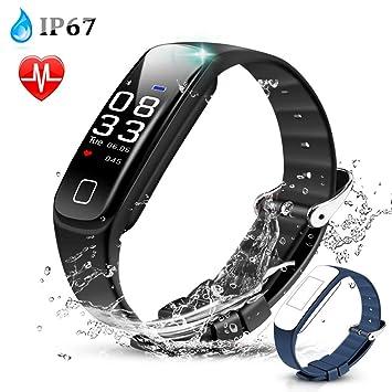 AGPTEK Montre Connectée Etanche IP67 Bracelet Sport Connecté Podomètre Fitness Tracker dActivité Smartwatch avec