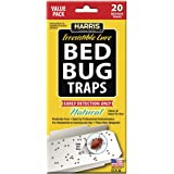 HARRIS FAMOUS ROACH TABLETS Harris Early Detection Bed Bug Glue Traps (20/Pack)