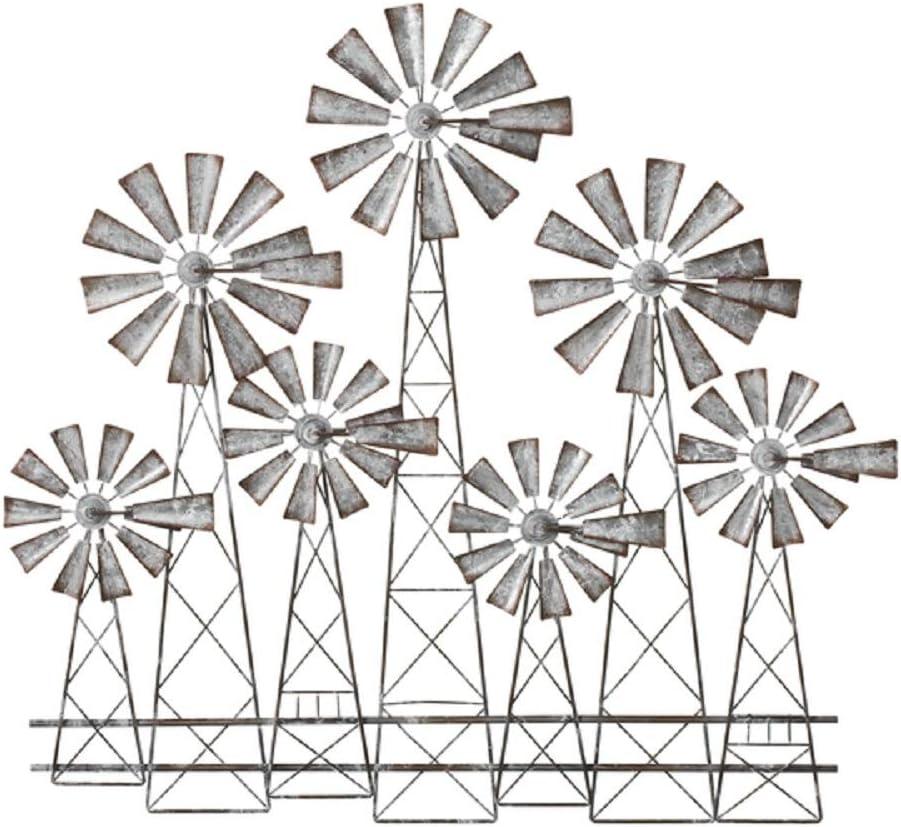 Ganz Midwest-CBK Layered Spinning Windmill Wall Decor