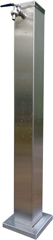 Grifo de agua de acero inoxidable con grifo de 1/2 pulgadas y roseta
