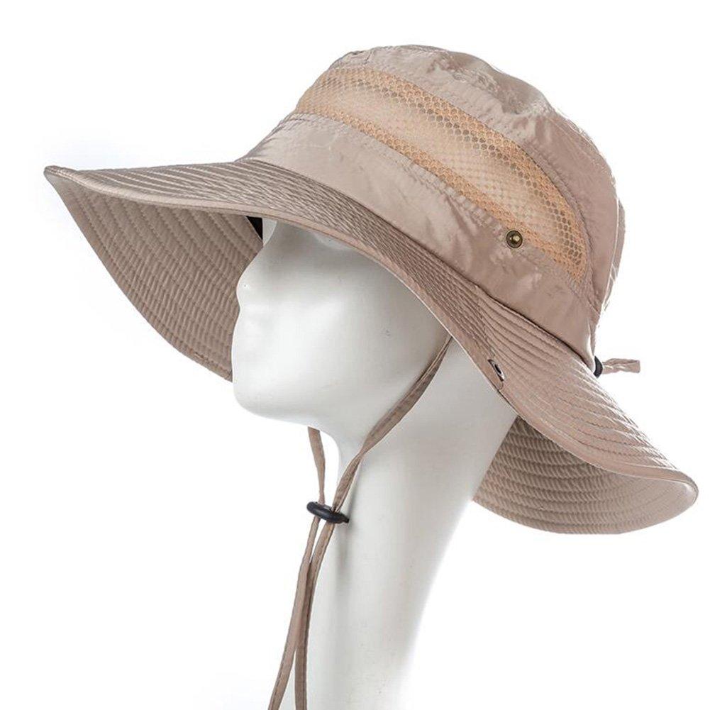CJC Sombrero de pescador Sol Sombrero Al Aire Libre Grande Grande Libre Brimmed Pescar Sol UV Proteccion Rápido El Secado Gorra Cámping De Viaje Excursionismo Ligero portátil (Color : T2) 456c0e