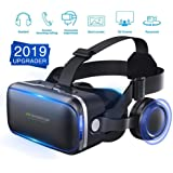 [ 2019 New Version ] WorldSeng VR Headset,VR Headset with Stereo Headphone,3D Glasses Virtual Reality Headset for VR Games & 3D Movies,VR Headset Upgraded, Cardboard For iPhone and Android Smartphones