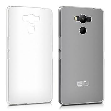 kwmobile Funda para Elephone P9000 - Carcasa Protectora de TPU para móvil - Cover Trasero en Transparente Mate