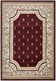 Ottomanson Regal Collection French European Design Fleurdelys Classic Area Rug, 7'10''W x 10'6''L, Red