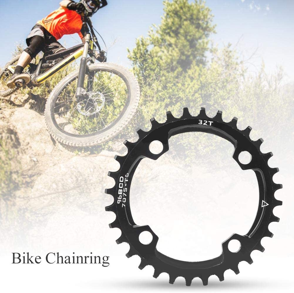 96 BCD Bike Narrow Wide Round Chainring Single Chain Ring for Mountain Bicycle 32T 34T 36T AYNEFY Bike Chainring