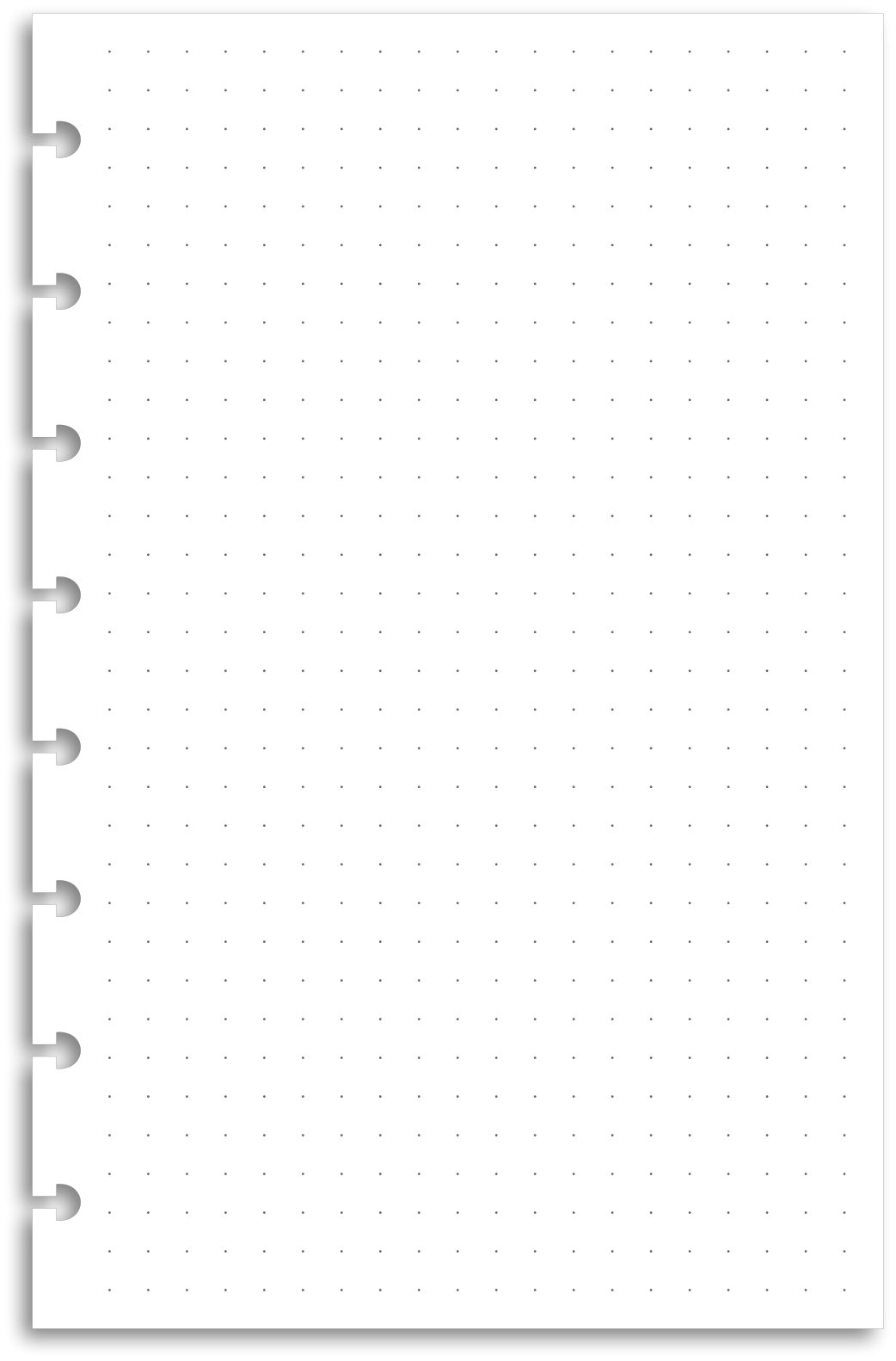 Pure Dot Grid Premium Heavyweight Junior Discbound Notebook Paper Refills Punched for Circa, Arc, TUL