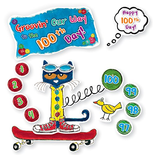 Edupress Pete the Cat 100 Groovy Days of School Bulletin Board (EP62384) (Pete The Cat Bulletin Board)