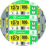 southwire 12 2 - Southwire 13055926 12/2WG UF Wire 100-Foot, Approved for Direct Burial Wiring