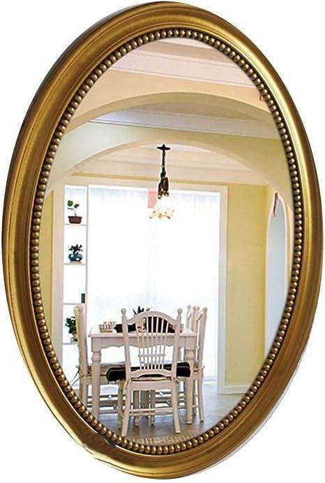 Color : A MIRRORMEI Specchio Bagno Europeo Semplice Appeso a Parete Specchio Bagno Specchio Ovale retr/ò Specchio Bellezza Specchio Hotel KTV Una Meravigliosa aggiunta al Piacere e allattenzi