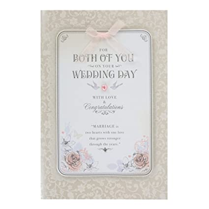 Hallmark - Tarjeta de felicitación de boda (tamaño grande, 3D)