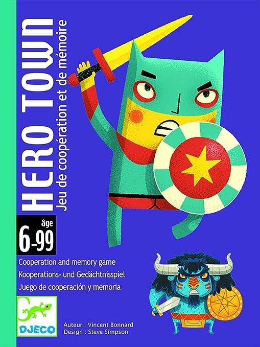 Djeco- Hero Town C Juego de Cartas con Superhéroes y Villanos para Niños a Partir de 6 Años, Multicolor (DJ05143): Amazon.es: Juguetes y juegos