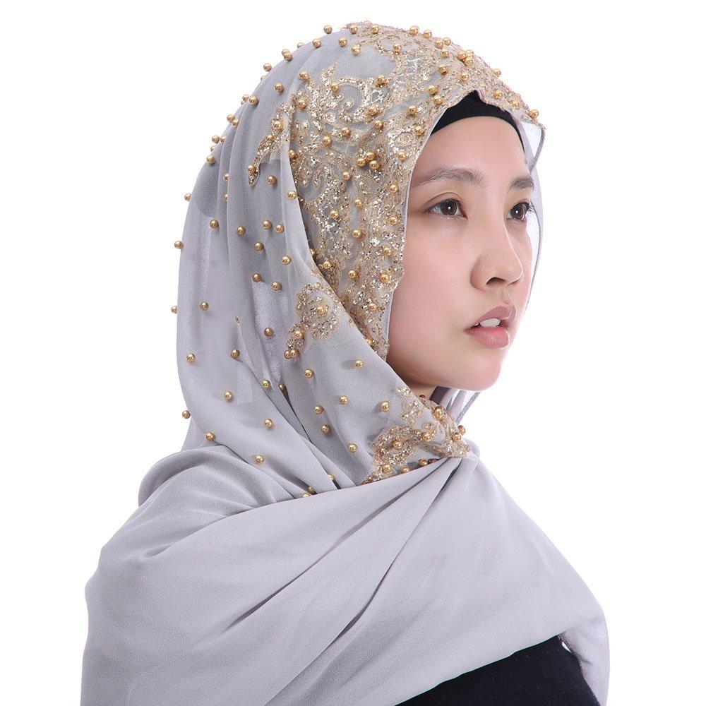 Lina /& Lily Sciarpa in chiffon con scialle hijab musulmano