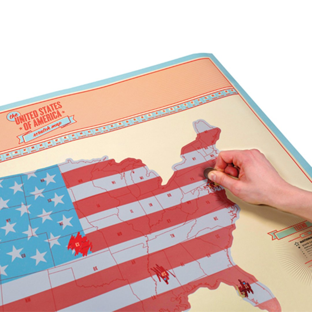 Scratch off Map SOLD BY LUCKIES INVENTORS OF THE SCRATCH MAP CONCEPT SCRATCH MAP of USA Large 23.4x32.5in Personalized Map with US States and Major Cities Perfect Travel Gift to Track Your Adventures