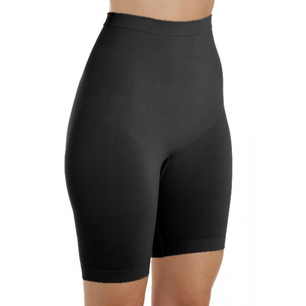 Camille Womens Ladies Underwear Black Seamfree Shapewear Comfort Control Thigh Slimmer Support Briefs