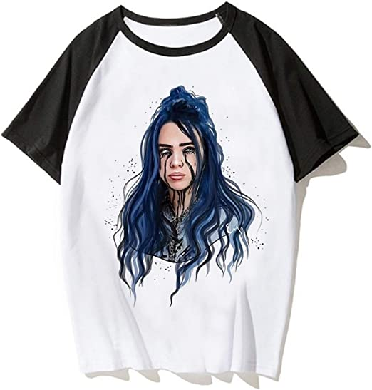 MOEYBOR Dark Billie-Eilish T-Shirts,Fashion Summer Tee for Kids//Teen//Boys//Girls