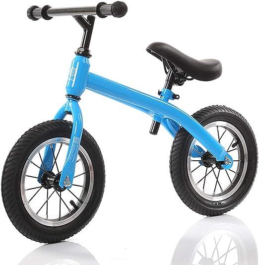 YUMEIGE Bicicletas sin Pedales Bicicleta de Equilibrio para niños Estructura de Acero al Carbono de 12 Pulgadas for 2-6 años, Bicicletas sin pedalescarga de 30 kg, Asiento Ajustable (Color : Blue): Amazon.es: Jardín