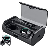 HEYMIX True Wireless Earbuds Bluetooth 5.0 Headphones w/Mic IPX7 Waterproof Earphones for Sports, 3D Stereo Audio Touch Control in-Ear Headset, 125H Playtime w/ 3500mAh Charging Case with LED Battery Display