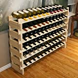 Creekside 72 Bottle Long Scalloped Wine Rack (Pine) by Creekside – Easily stack multiple units – hardware and assembly free. Hand-sanded to perfection!, Pine Review