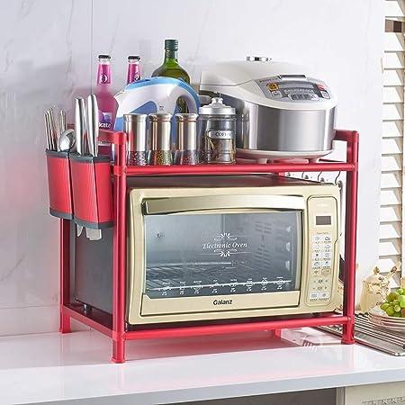 Estante para Horno Soportes para Microondas Soporte de Cocina Doble del Estante de Almacenamiento de Almacenamiento 58 * 37 * 48.5cm (Color : D): Amazon.es: Hogar