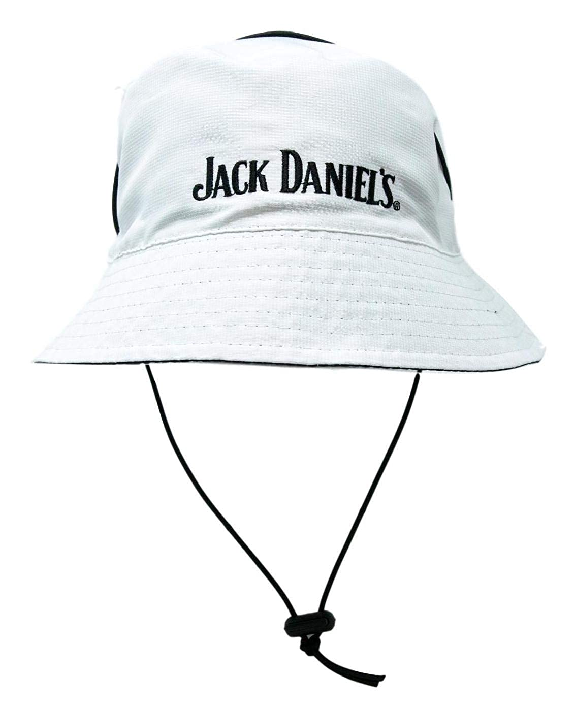 faa9d220c92 Jack Daniel s Official Reversible Bucket Hat – White Side Features  Embroidered Logo - Black Side Features Old No. 7 Rubber Logo – Lightweight  Polytec ...
