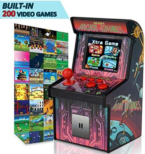 GBD Kids Mini Retro Arcade Game Consoles Machine 200 Handheld Video Games Cabinet 2.5