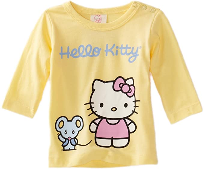 6f25fa89f Amazon.com: Hello Kitty Organics Baby-Girls Infant Infant Joey Long Sleeve  Snap T-Shirt, Yellow, 0-3 Months: Infant And Toddler T Shirts: Clothing