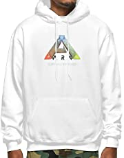 Muindancer ARK Survival Evolved Logo Men's Adult Pullover Hooded Sweatshirt with Pocket