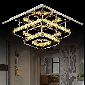 Amazon.com: WG LED Lámpara de Techo Cristal Moderno Diseño ...