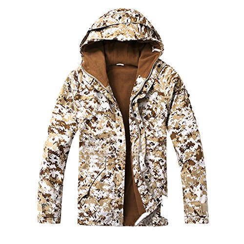 Men's Millitary Tactical Army Combat Coat Camouflage Softshell Jacket For Outdoor Hunting & Fishing (Xxx Cp Set)