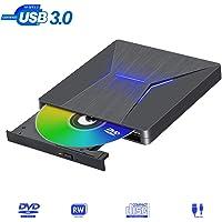 Lector DVD Externo USB 3.0 Reproductor DVD Externo Tipo-C Puerto Dual Grabadora DVD Externa Lector CD/DVD-R ±RW ROM Compatible con Portátiles/ Mac OS/Windows/Linux