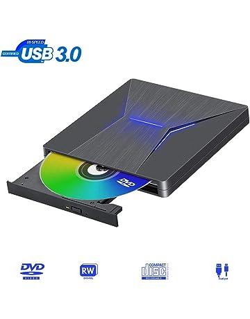Lector DVD Externo USB 3.0 Reproductor DVD Externo Tipo-C Puerto Dual Grabadora DVD Externa