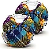 Lil Joey Newborn All In One Cloth Diaper (2 Pack) - Preppy