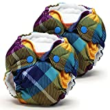 Lil Joey Newborn All In One Cloth Diaper (2 Pack) - Preppy