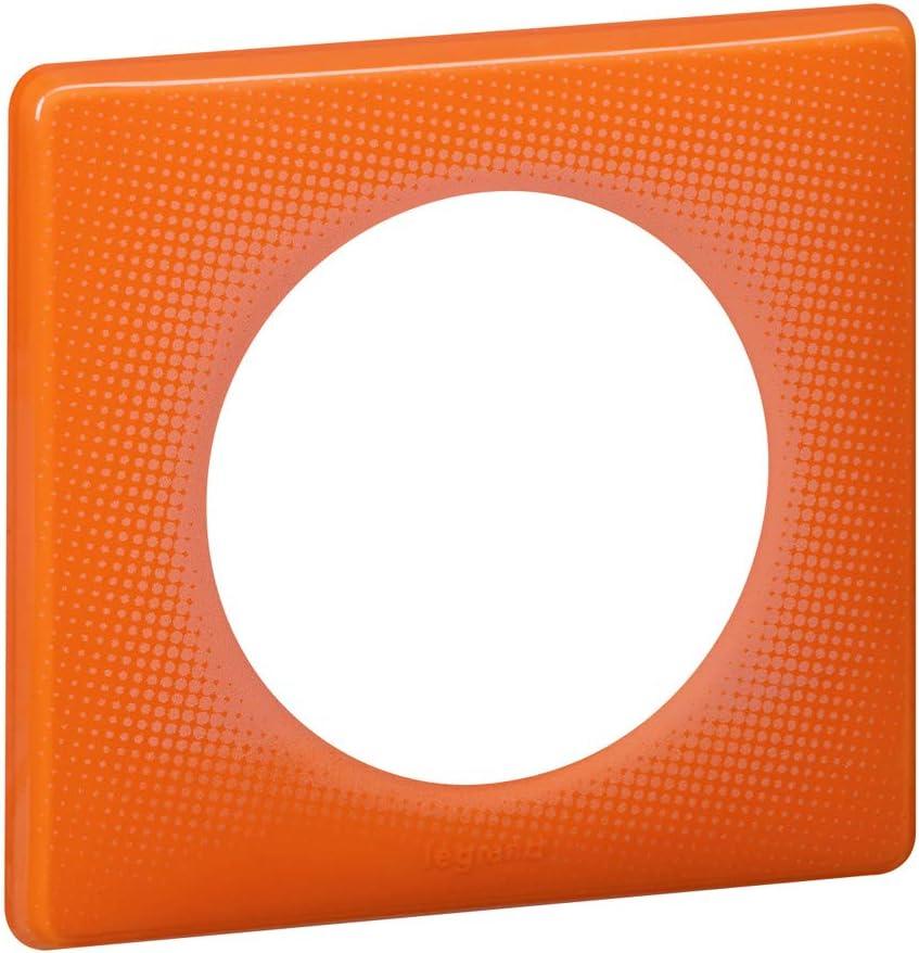 plaque legrand c/éliane 1 poste orange 70s