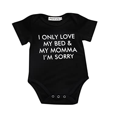1e912b660388 Baby Romper Yamally Infant Baby Boys Girls Clothing Jumpsuit Funny Letter  Printed Onesie (0-