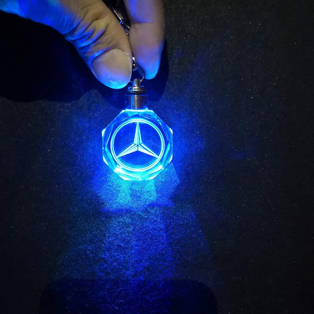 VILLSION LED Portachiavi Colori Che cambiano Auto Portachiavi LED Accessori Ciondolo Interni Auto
