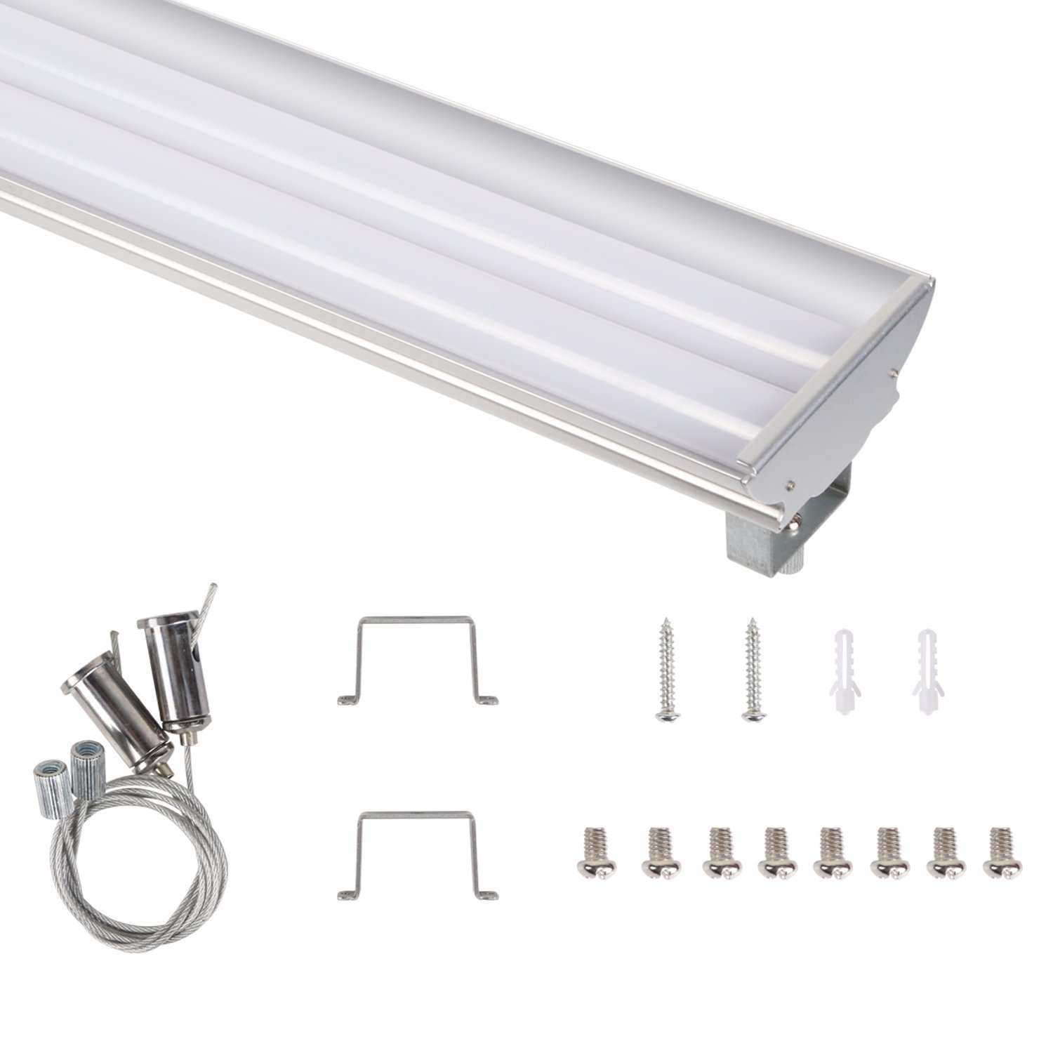 Hykolity 4FT 40W LED Shop Light with Pull Chain, 4200lm Hanging Garage Utility Light with Cord, Robust Aluminium Body, 5000K Workbench Light, 64w Fluorescent Fixture Equivalent, 5year Warranty-4 Pack by hykolity (Image #4)