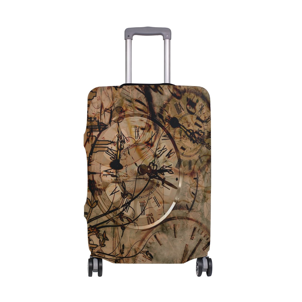 Luggage Protective Covers with Clover Weed Tile Washable Travel Luggage Cover 18-32 Inch