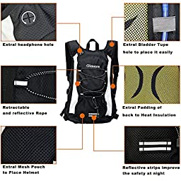 Gimars Water-Resistant Hydration Pack with 2L Backpack Water Bladder