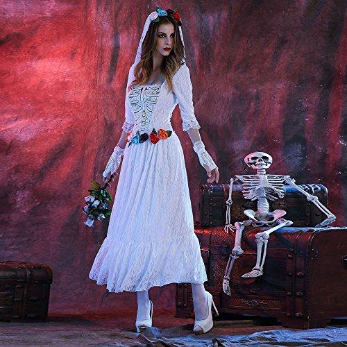 Yogogo DGuisement Halloween Corps Blanc Long Morts MariE Zombies Blanche Costume Dentelle Longueur Femmes ZHngqwrAZ