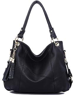 46e191e51606 Dreubea Womens Soft Leather Hobo Handbag Large Size Tote Shoulder Crossbody  Bag