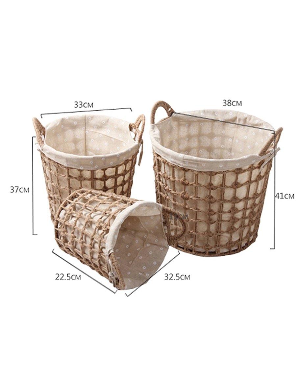 Jeden Tag Haushaltsablagekorb Stroh-Korb-Stroh-Korb-handgewebter Korb-Korb Sparen Sie Platz ( größe : 4 )