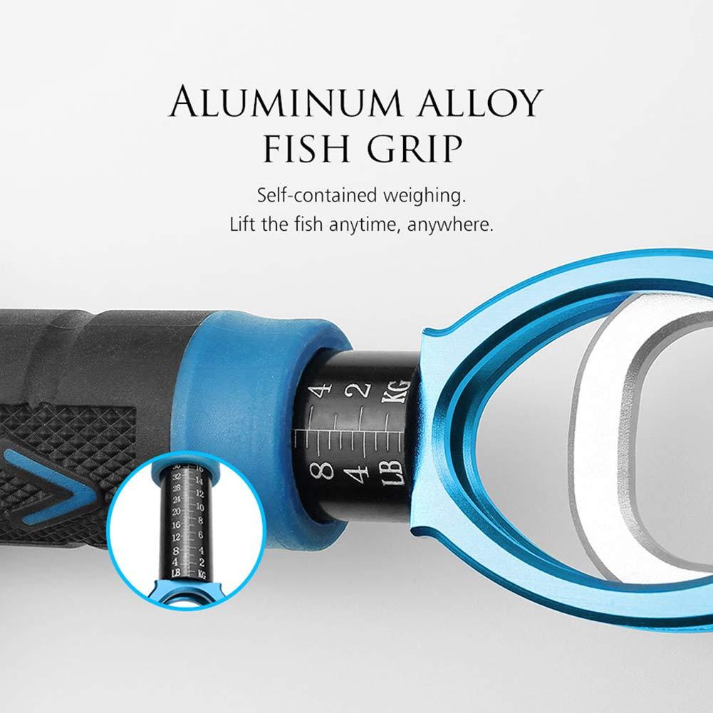 uizhiren1 Alicates de aluminio para pescar con escala de peso color rojo