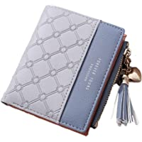 SYGA Wallet for Women Small Compact Wallet Bifold, Credit Card Holder Mini Bifold Pocket Wallet(Grey)