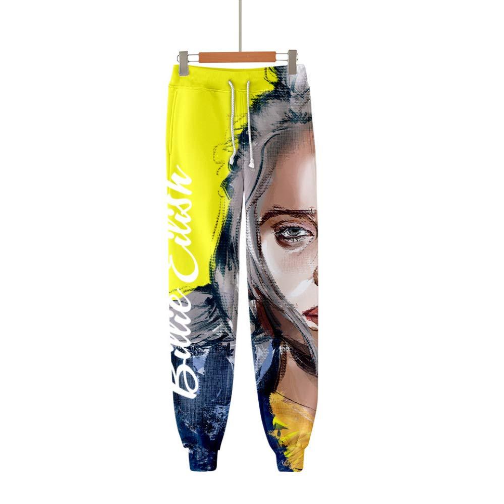 INSTO Pantaloni Sportivi per Uomo e Donna Pantaloni Sportivi per Pantaloni di Billie Eilish Stampati