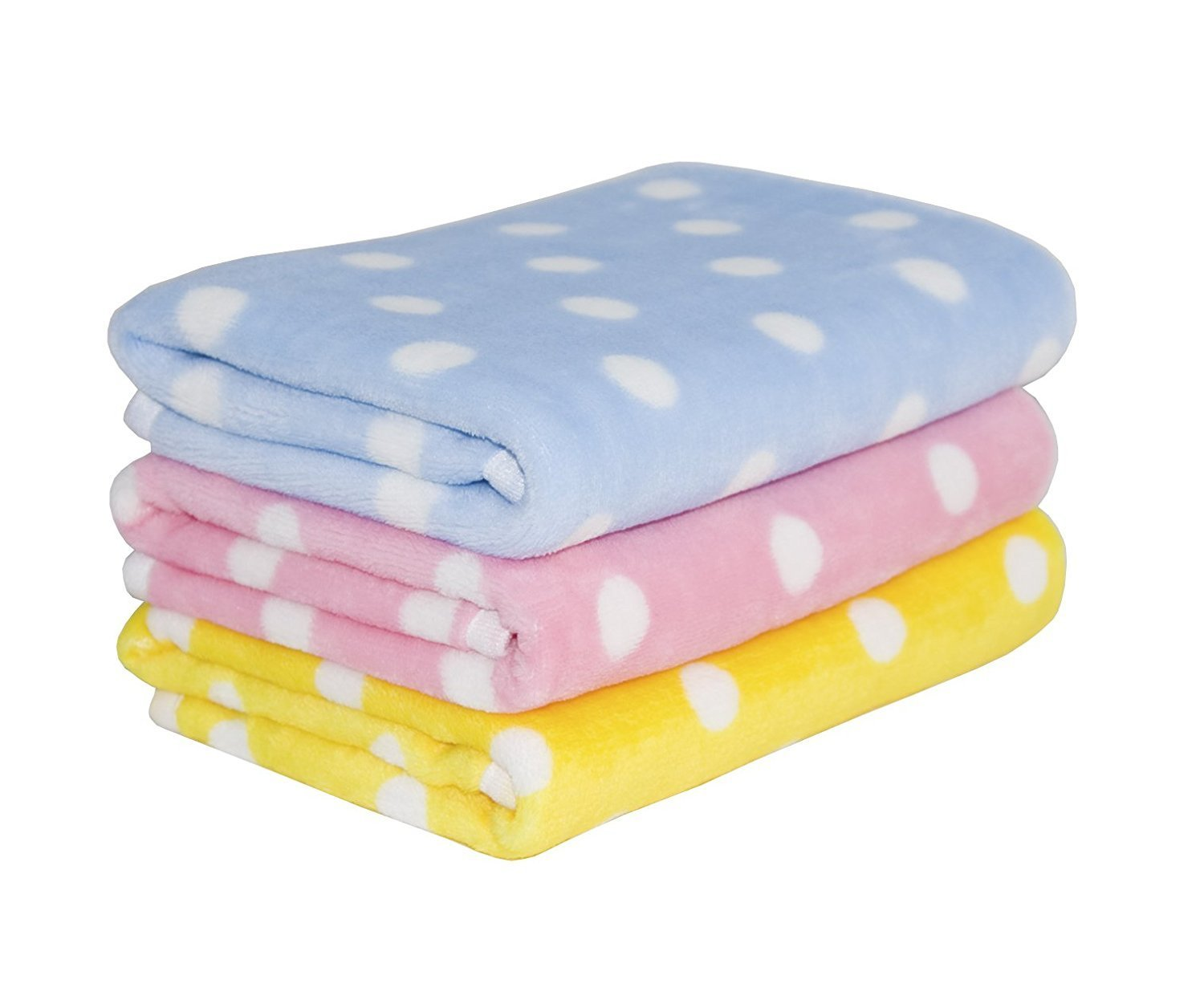 3 Pack 3 Colors Fleece Pet Dog Blanket & Lovely Baby Best Puppy Blanket for Car,Couch,Bed & Soft Small Dog and Cat Blankets