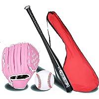 IDE Con Mezclado 25' Conjunto de béisbol Infantil, Conjunto de béisbol, Bate de Madera, Bola y del Guante de béisbol…