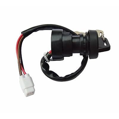 shamofeng Ignition Key Switch FOR Yamaha Grizzly 400 450 2011-2014 YFM 400 450 Kodiak 400 450 2003-2006 ATV: Automotive
