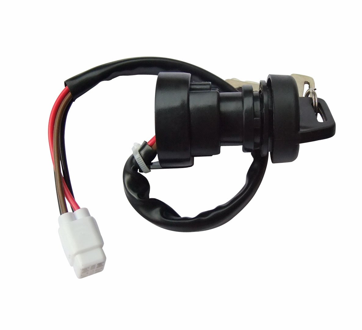 shamofeng Ignition Key Switch 4 PIN FOR Yamaha Grizzly 400 450 YFM 400 450 Kodiak 2/4WD 2007-2011 ATV
